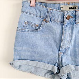 Topshop Shorts - TOP SHOP high waisted shorts